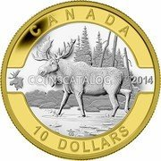 Canada 10 Dollars O Canada Moose 2014 KM# 1649a CANADA 2014 10 DOLLARS coin reverse