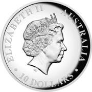 Australia 10 Dollars Wedge-tailed Eagle 2018 P High-Relief Proof ELIZABETH II AUSTRALIA 10 DOLLARS coin obverse