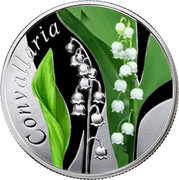 Belarus 10 Roubles Lily of the Valley 2013 Proof KM# 523 CONVALLARIA coin reverse