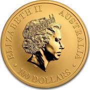 Australia 100 Dollars Australian Emu 2018 ELIZABETH II AUSTRALIA 100 DOLLARS coin obverse