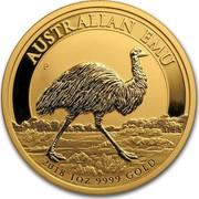 Australia 100 Dollars Australian Emu 2018 AUSTRALIAN EMU 2018 1 OZ 9999 GOLD coin reverse