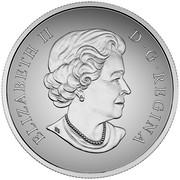 Canada 100 Dollars Cougar 2016 Matte Proof KM# 2239 ELIZABETH II D∙G∙REGINA coin obverse
