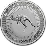Australia 100 Dollars Kangaroo BU 2019 AUSTRALIAN KANGAROO 2019 1 OZ 9995 PLATINUM coin reverse