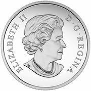 Canada 100 Dollars Orca Whale 2016 Matte Proof KM# 2236 ELIZABETH II D ∙ G ∙ REGINA coin obverse