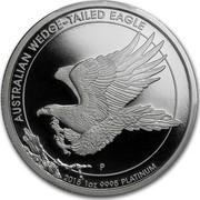 Australia 100 Dollars Wedge Tailed Eagle 2015 AUSTRALIAN WEDGE-TAILED EAGLE 2014 1 OZ 9995 PLATINUM P coin reverse