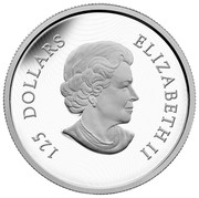 Canada 125 Dollars 350th anniversary of the introduction of the Canadian Horse 2015 Proof KM# 1824 125 DOLLARS ELIZABETH II coin obverse
