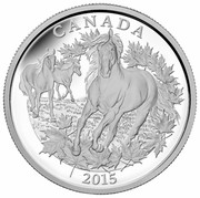 Canada 125 Dollars 350th anniversary of the introduction of the Canadian Horse 2015 Proof KM# 1824 CANADA 2015 coin reverse