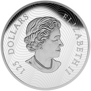 Canada 125 Dollars Call of the Wild - Growling Cougar 2015 Proof KM# 2048 125 DOLLARS ELIZABETH II coin obverse