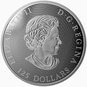 Canada 125 Dollars Conservation Series - The Grey Fox 2015 Proof ELIZABETH II D∙G∙REGINA 125 DOLLARS coin obverse