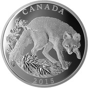 Canada 125 Dollars Conservation Series - The Grey Fox 2015 Proof CANADA 2015 coin reverse
