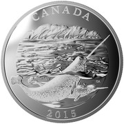 Canada 125 Dollars Conservation Series - The Narwhal 2015 Proof CANADA 2015 coin reverse
