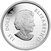 Canada 125 Dollars Howling Wolf 2014 Proof KM# 1696 125 DOLLARS ELIZABETH II coin obverse