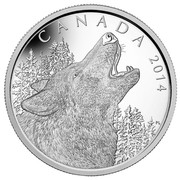 Canada 125 Dollars Howling Wolf 2014 Proof KM# 1696 CANADA 2014 coin reverse