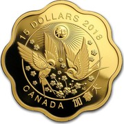 Canada 15 Dollars Blessings of Harmony 2018 15 DOLLARS 2018 CANADA AC coin reverse