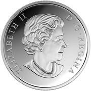 Canada 15 Dollars Year of the Monkey 2016 Proof KM# 2159 ELIZABETH II D ∙ G ∙ REGINA coin obverse