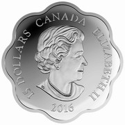 Canada 15 Dollars Year of the Monkey Scalloped 2016 Proof KM# 2158 15 DOLLARS CANADA ELIZABETH II 2016 coin obverse