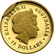 Australia 15 Dollars Year of the Pig 2007 P Proof ELIZABETH II AUSTRALIA • 15 DOLLARS • IRB coin obverse