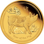 Australia 15 Dollars Year of the Pig 2019 Proof YEAR OF THE PIG coin reverse