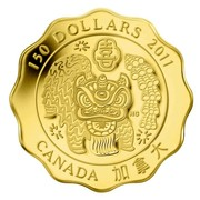 Canada 150 Dollars Blessings of Happiness 2011 Proof 150 DOLLARS 2011 CANADA coin reverse
