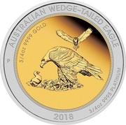 Australia 150 Dollars Wedge-tailed Eagle 2018 P Proof AUSTRALIAN WEDGE-TAILED EAGLE 3/4 OZ 9999 GOLD 2018 3/4 OZ 9995 PLATINUM coin reverse