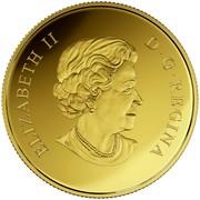 Canada 150 Dollars Year of the Monkey 2016 Proof ELIZABETH II D·G·REGINA coin obverse