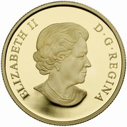 Canada 150 Dollars Year of the Sheep 2015 Proof ELIZABETH II D·G·REGINA coin obverse