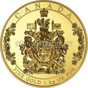 Canada 2,500 Dollars The Arms of Canada 2016 Proof CANADA FINE GOLD 1KG OR PUR coin reverse