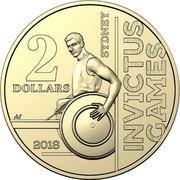 Australia 2 Dollars 2018 Invictus Games 2018  2 DOLLARS SYDNEY INVICTUS GAMES AS 2018 coin reverse