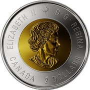 Canada 2 Dollars Centenary of the end of the First World War - Colorized 2018 ELIZABETH II D • G • REGINA CANADA 2 DOLLARS SB coin obverse