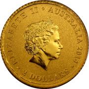 Australia 2 Dollars Gold Mini Koala BU 2014 ELIZABETH II AUSTRALIA 2014 2 DOLLARS coin obverse