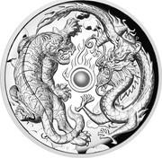 Australia 2 Dollars Tiger & Dragon 2018 Proof P coin reverse