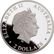 Australia 2 Dollars Wedge-tailed Eagle 2018 P Proof ELIZABETH II AUSTRALIA 2 DOLLARS coin obverse
