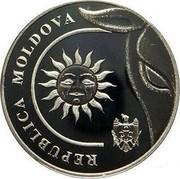 Moldova 2 Lei The sun 2018  REPUBLICA MOLDOVA coin obverse