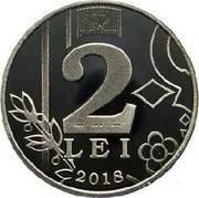 Moldova 2 Lei The sun 2018  2 BNM BNM BNM LEI 2018 coin reverse