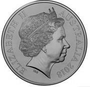 Australia 20 Cents Anzac Spirit - Patriotic 2018 UNC in Coincard ELIZABETH II AUSTRALIA 2018 IRB coin obverse