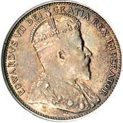 Canada 20 Cents (Edward VII) KM# 10 EDWARD VII DEI GRATIA REX IMPERATOR coin obverse
