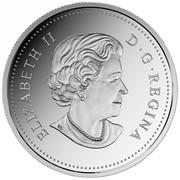 Canada 20 Dollars Atlantic Salmon 2016 Proof ELIZABETH II D. G. REGINA coin obverse
