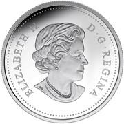 Canada 20 Dollars Black-Eyed Susan with Crystal Dew Drop 2015 Proof ELIZABETH II D ∙ G ∙ REGINA coin obverse
