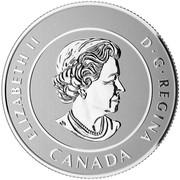 Canada 20 Dollars Looney Tune Bugs Bunny 2015 Specimen KM# 1981 ELIZABETH II D∙G∙REGINA CANADA coin obverse