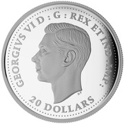 Canada 20 Dollars Patrol Against U Boats 2016 Proof GEORGIVS VI D : G : REX ET IND : IMP: HP 20 DOLLARS coin obverse