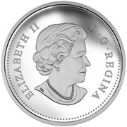 Canada 20 Dollars The Catch Grizzly Bear 2015 Proof ELIZABETH II D ∙ G ∙ REGINA coin obverse