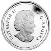 Canada 20 Dollars Wild Rose 2011 Proof KM# 1145 ELIZABETH II D ∙ G ∙ REGINA coin obverse