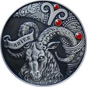 Belarus 20 Roubles Aries Zodiac Horoscope 2014 Antique finish KM# E457 ARIES coin reverse