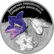 Belarus 20 Roubles Campanula Persic Flower 2014 Proof ЗВАНОЧАК ПЕРСІКАЛІСТЫ CAMPANULA PERSICIFOLIA coin reverse