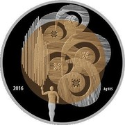 Belarus 20 Roubles Olympic Movement 2016 Proof-like KM# 581 2016 AG 925 coin reverse
