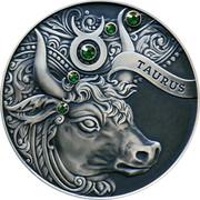 Belarus 20 Roubles Taurus Zodiac Horoscope 2014 Antique-finish KM# F457 TAURUS coin reverse