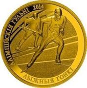 Belarus 20 Roubles The 2014 Olympic Games. Cross-country Skiing 2012 Proof АЛІМПІЙСКІЯ ГУЛЬНІ 2014 ЛЫЖНЫЯ ГОНКІ coin reverse
