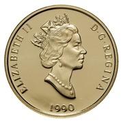 Canada 200 Dollars Canada's Flag Silver Jubilee 1990 Proof KM# 178 ELIZABETH II D ∙ G ∙ REGINA 1990 coin obverse