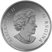 Canada 200 Dollars Canada's Rugged Mountains 2015 Matte Proof KM# 2056 ELIZABETH II D∙G∙REGINA coin obverse
