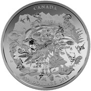 Canada 200 Dollars Canada's Rugged Mountains 2015 Matte Proof KM# 2056 CANADA 200 DOLLARS 2015 coin reverse